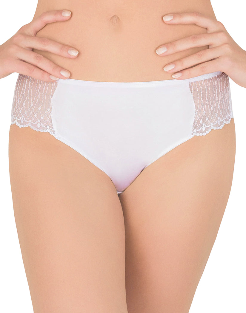 White Front Modern Chic Lace Shorty