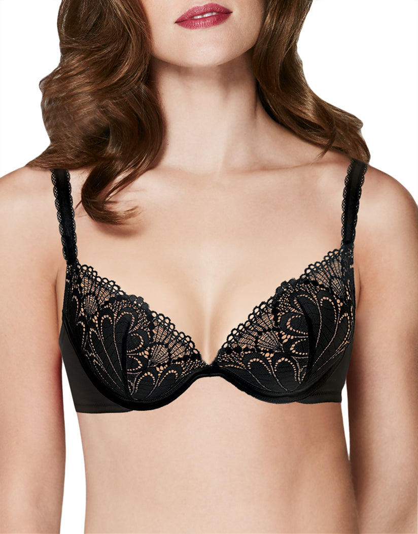 Wonderbra Refined Glamour Natural Push Up Bra Black 85D 3608851434660