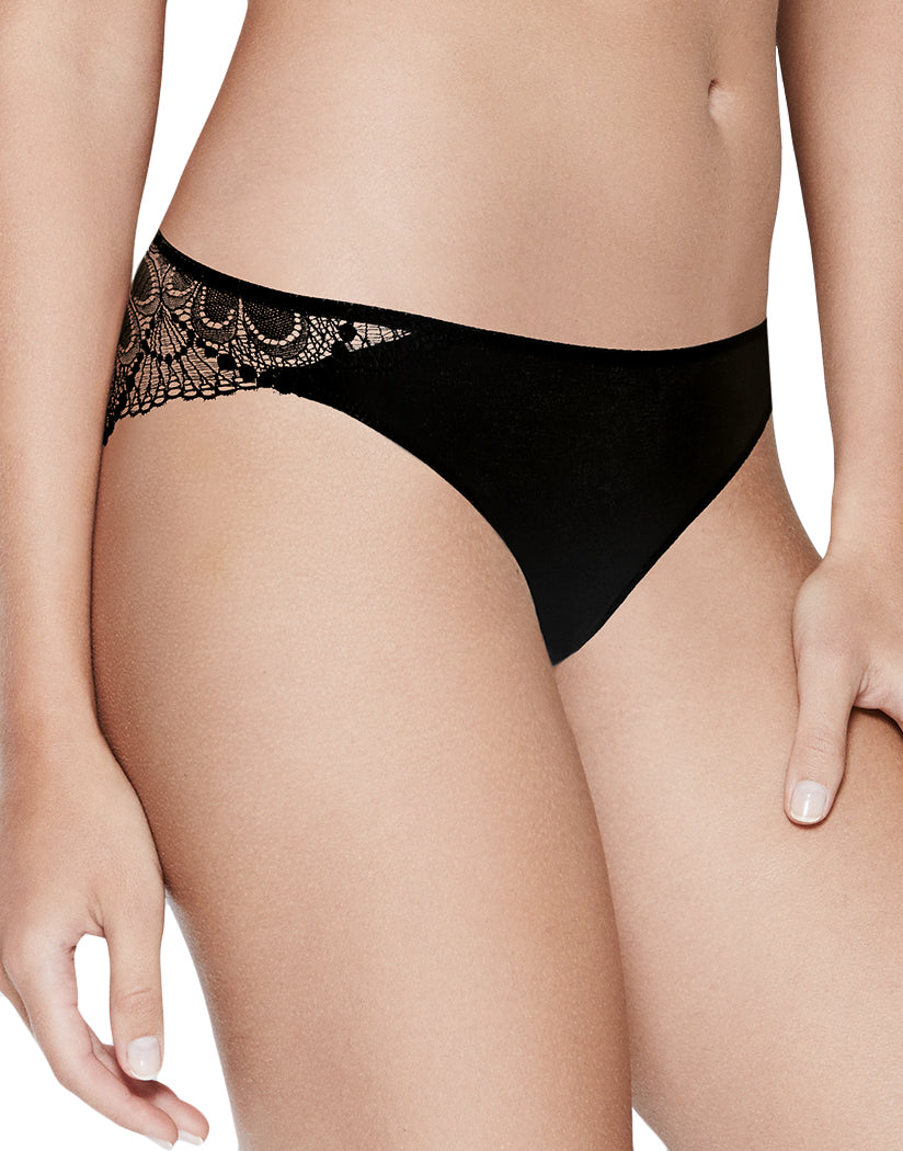Black Side Refined Glamour Lace Tanga