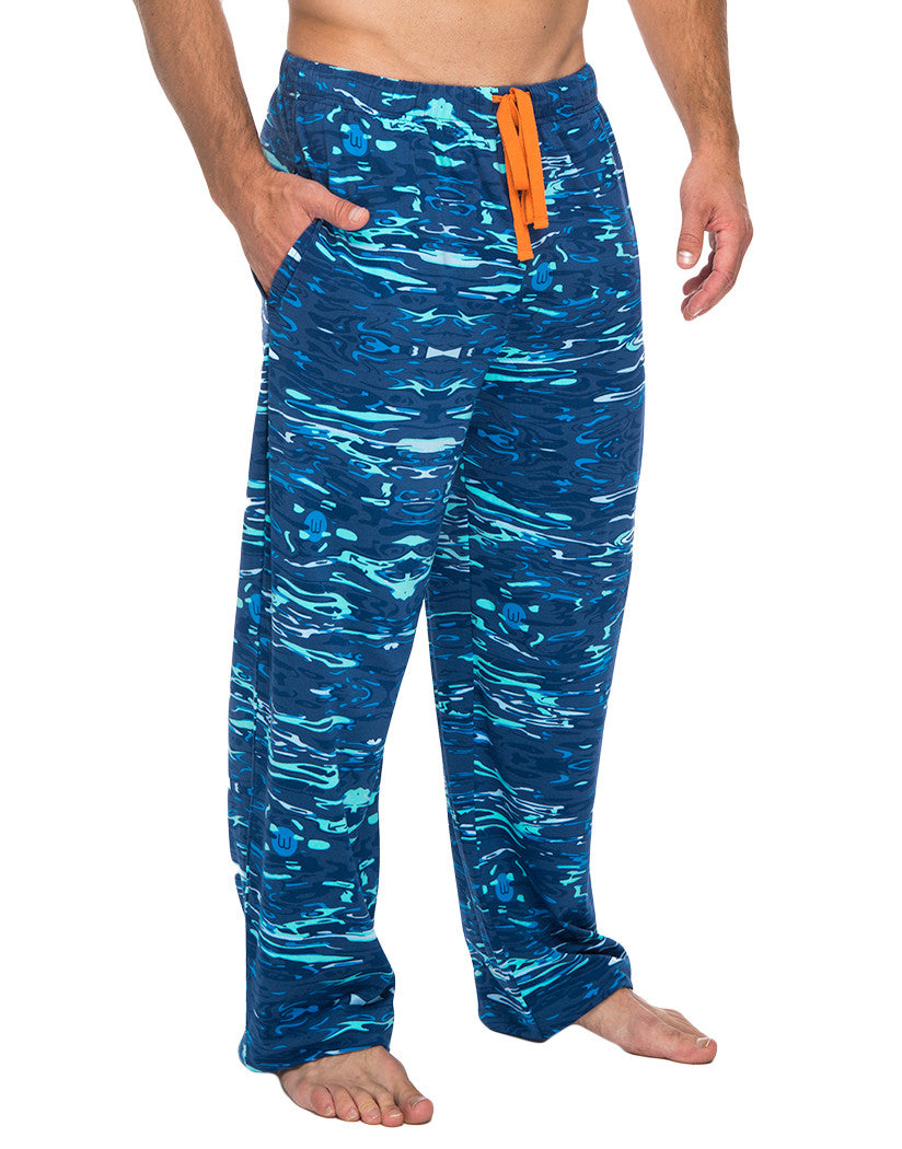 Blue Liquid Front Lounge Pant with Drawstring Pockets