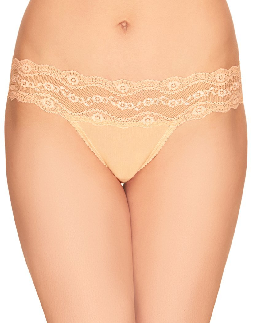 Apricot Ice Front b.tempt'd by Wacoal B.Adorable Lace Thong - 933182