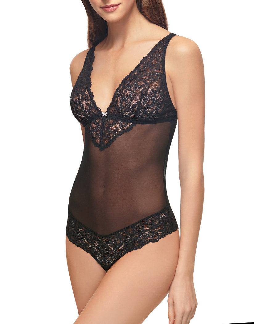 Blackened Pearl Side b.tempt'd by Wacoal B.Charming Bodysuit 936232