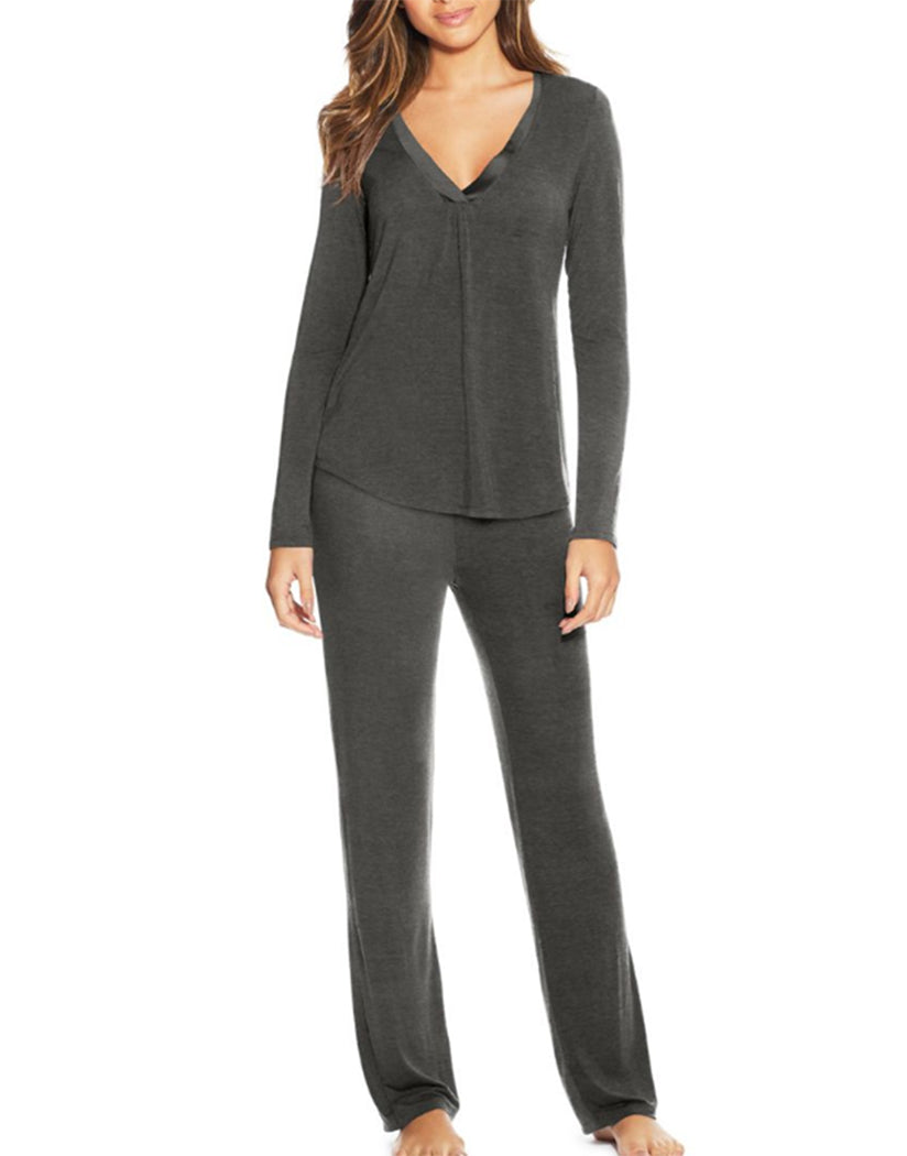 Charcoal Front Maidenform V-Neck PJ Set MFF7851