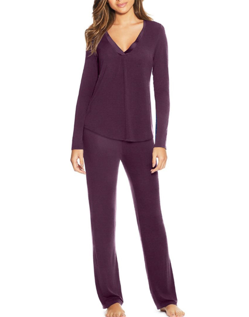 Potent Purple Front Maidenform V-Neck PJ Set MFF7851