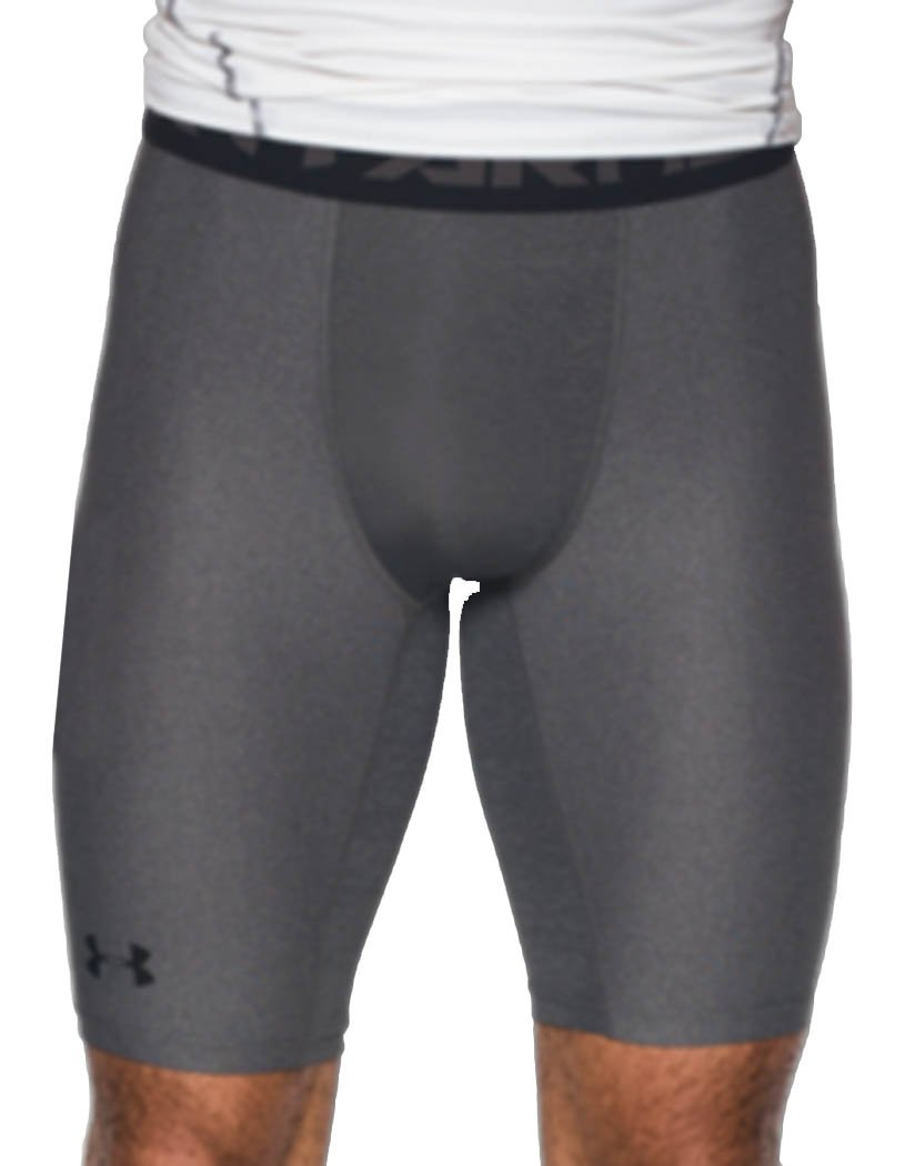 Carbon Heather Front Under Armour HeatGear Armour 2.0 Long Compression Short - 1289568