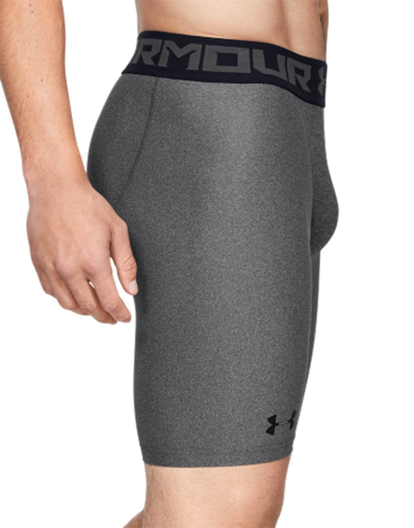 Carbon Heather Side Under Armour HeatGear Armour 2.0 Long Compression Short - 1289568