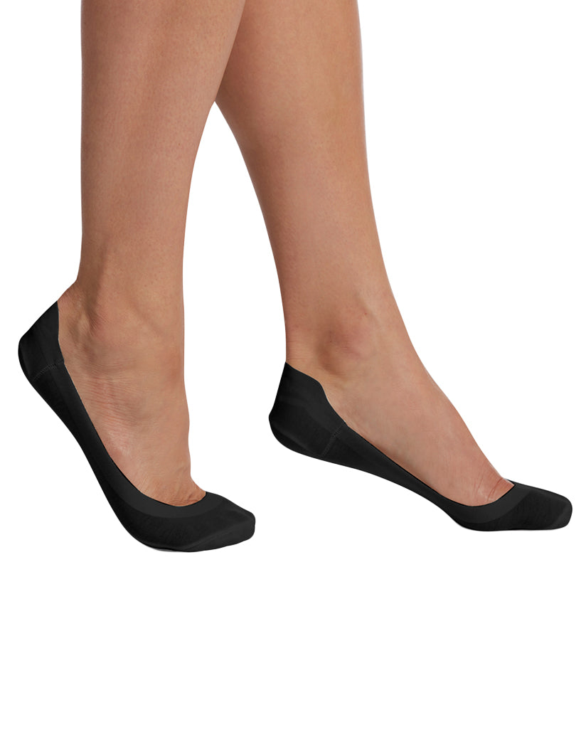 HUE Womens Hidden Cotton Perfect Edge Liner with Gel Tab black One Size U19152