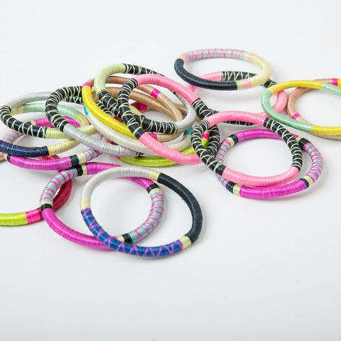 Rwandan Bangle Bracelets - Set of 3