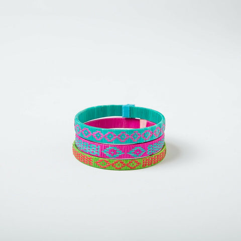 Bright & Bold Geometric Bracelets - Set of 3 Small
