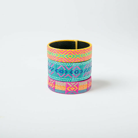 Bright & Bold Geometric Bracelets - Set of 3 Large