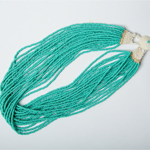 Indian Beaded Necklace - Teal