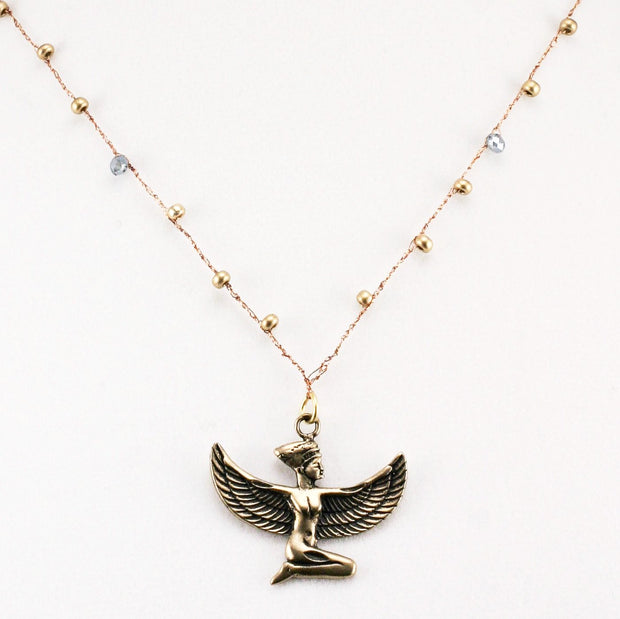 """TRAVELER"" Egyptian Goddess Chain Necklace - 18"""