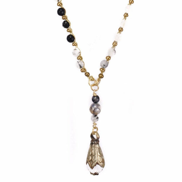 """TRAVELER"" Tibetan Teardrop Long Layer Necklace - 35"""