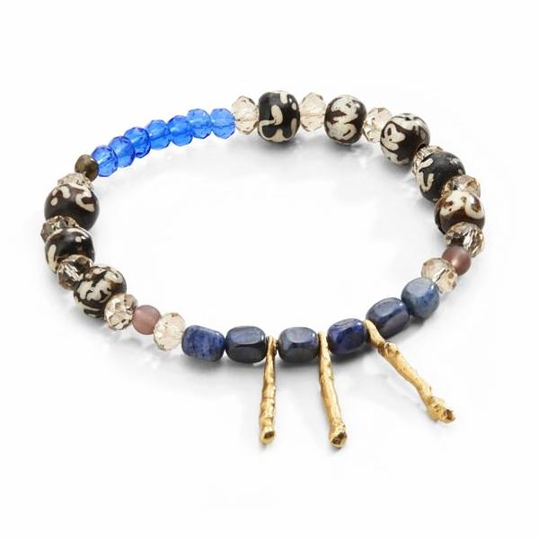 """TRAVELER"" Bar Beads Stretch Stackable Bracelet"
