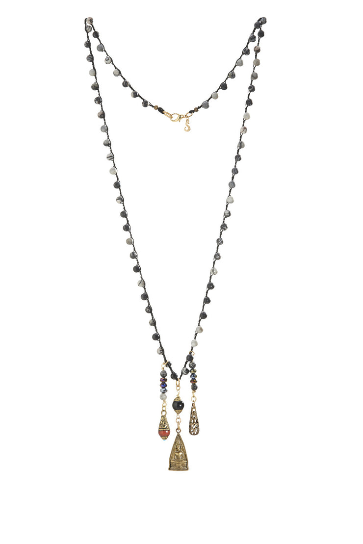"""CHARMED"" Tibet and Buddha Long Layering Necklace - 38"""
