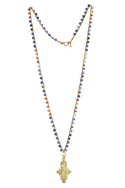 """TRAVELER"" Ethiopian Cross Long Layering Necklace - 41"""