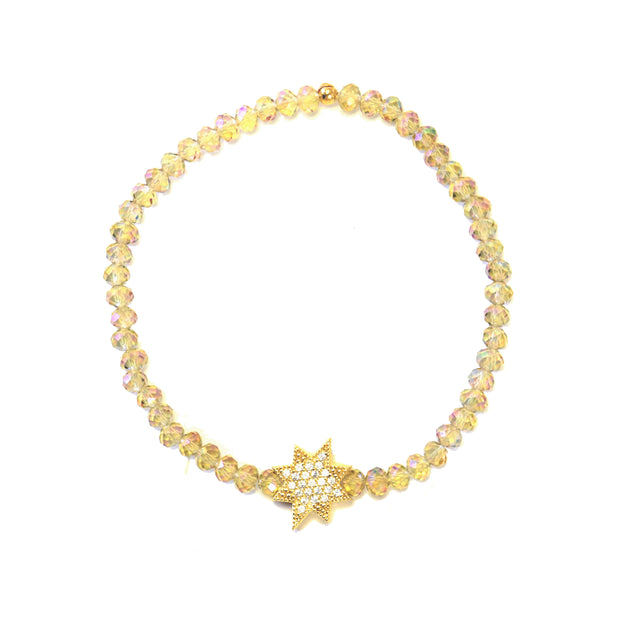 """SHIMMER"" Star Station CZ Mystic Crystal Stretch Bracelet"