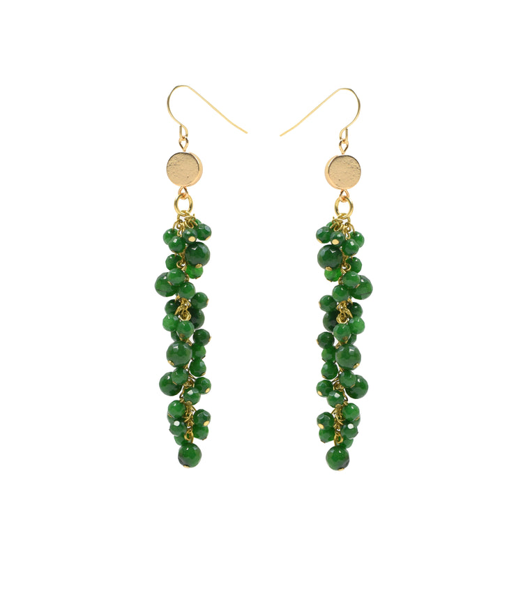 """BOHEMIAN"" Gemstone Cascade Drop Earrings"