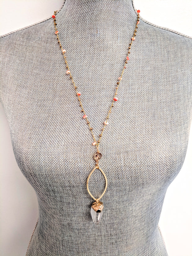 """Bohemian"" Mother's Day Exclusive: The Quartz Marquise Long Drop Necklace"