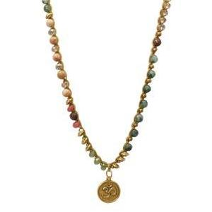 """MANTRA"" Om Disc Pendant Long Layering Necklace - 42"""