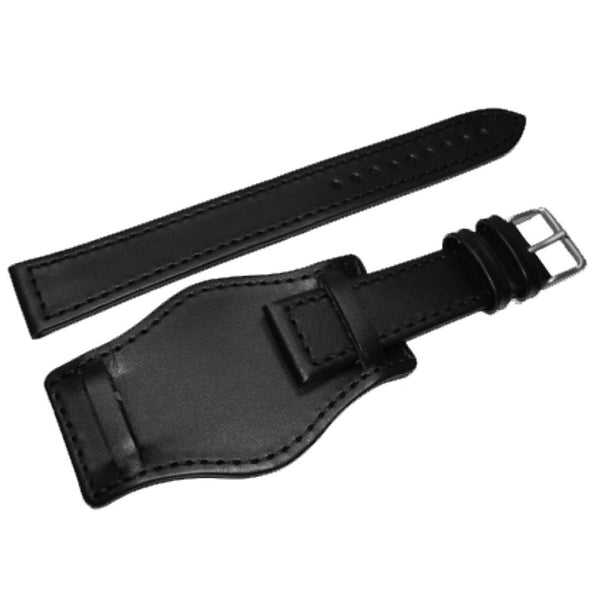 22mm Black German Military BUND Leatherstrap by Arctos-Elite®