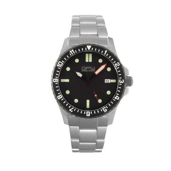 German Military Titanium Automatic Watch. GPW Date. 200M W/R. Sapphire Crystal. Titanium Bracelet.