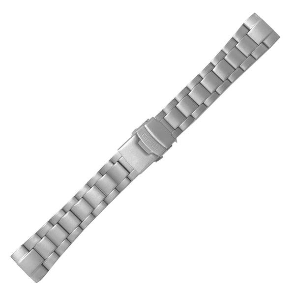 GPW® Solid Titanium Link Bracelet with Surgical Steel Double Lock Buckle.