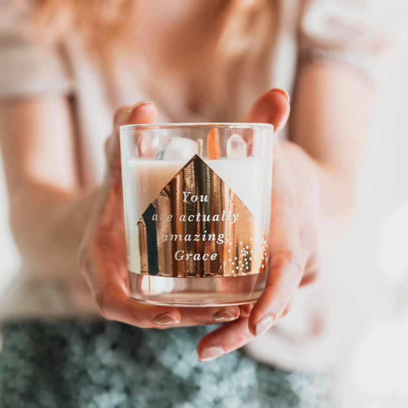 Personalised 'Best Friend' Crystal Intention Candle