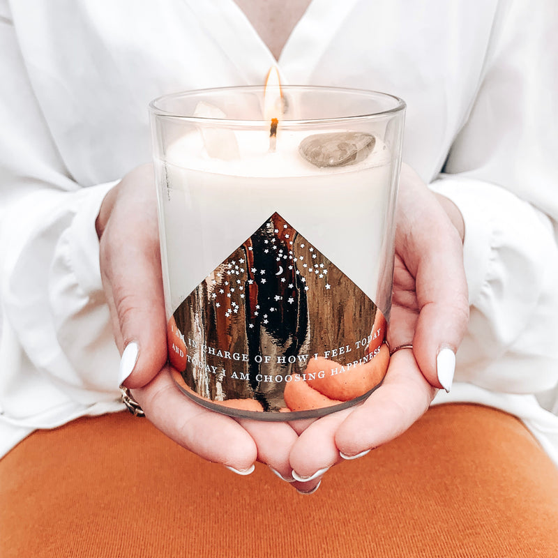 Crystal Intention Candle 'Positive Affirmation'