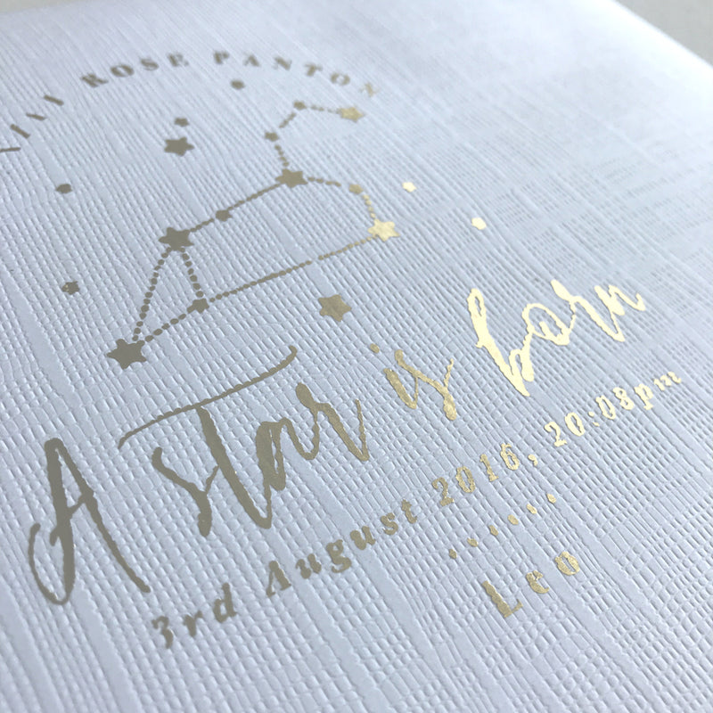 STAR SIGN BABY MEMORY BOOK