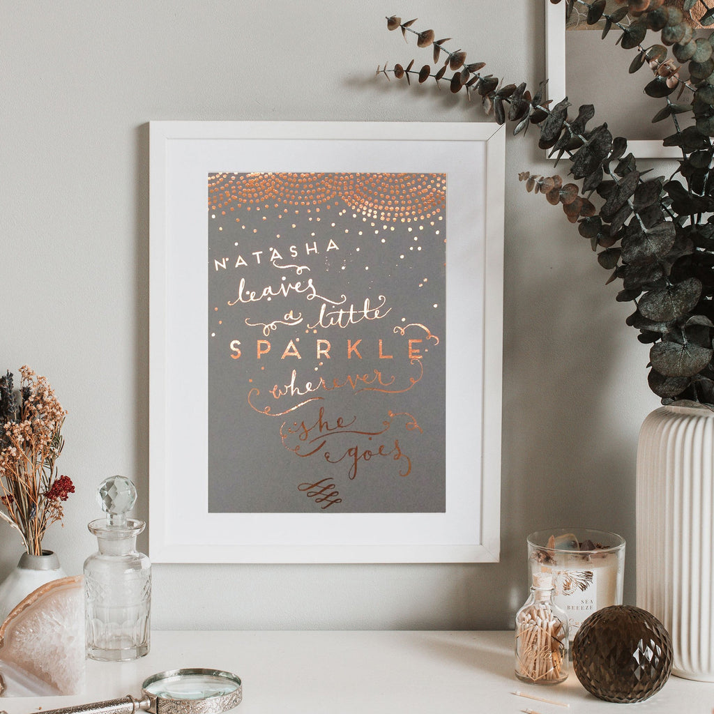 Personalised Foiled 'Sparkle' Print