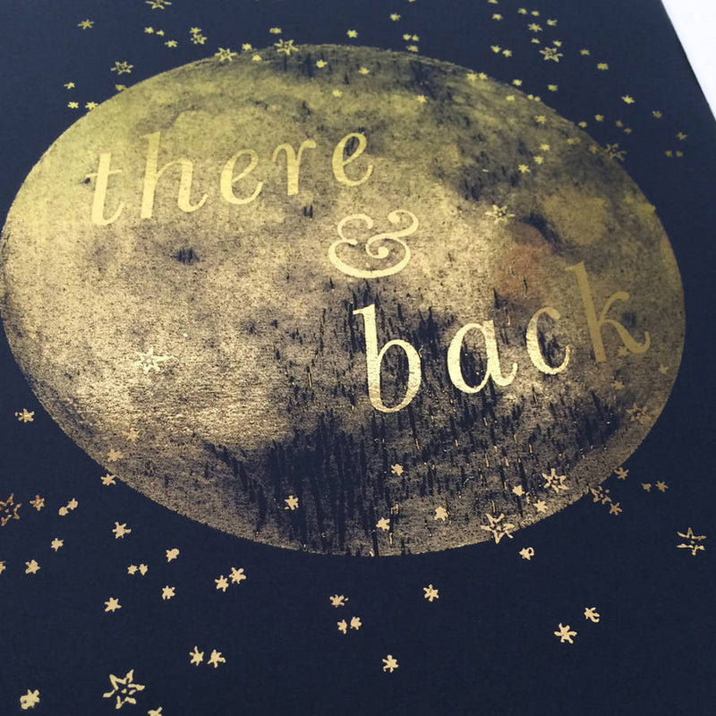 PERSONALISED MOON PRINT 'THERE AND BACK'