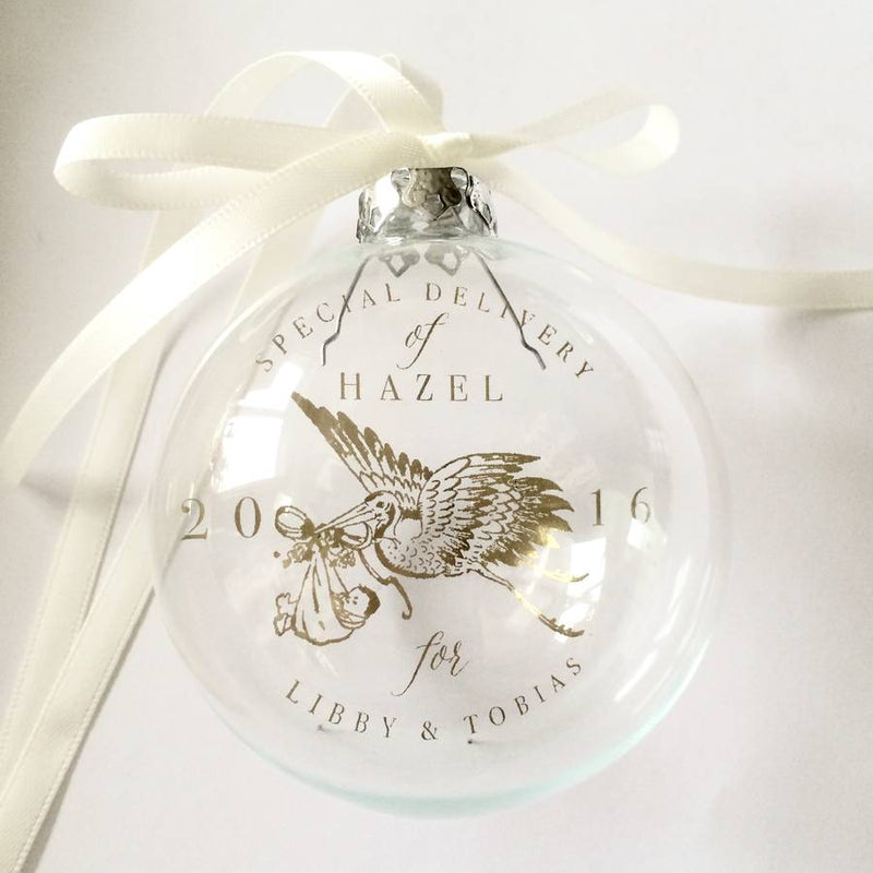 Special Stork Delivery Baby's First Bauble
