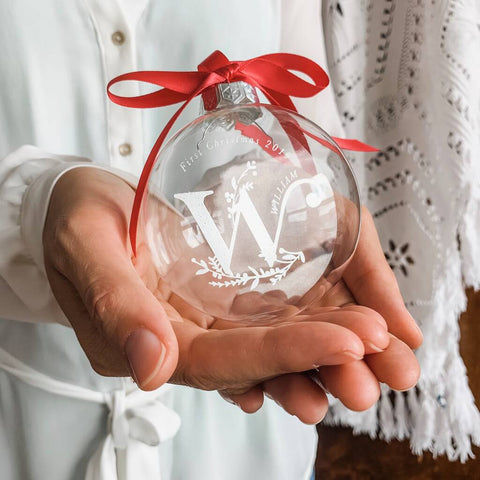 Luxury Monogram Personalised Christmas Bauble