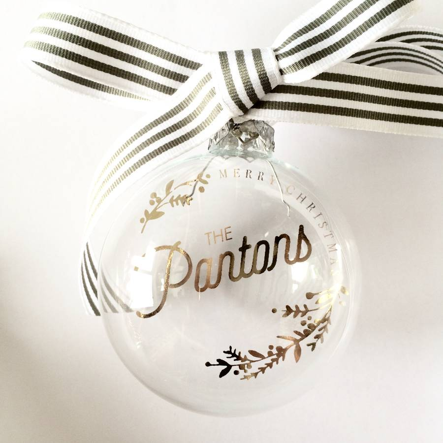 PERSONALISED NAME 'MERRY CHRISTMAS' BAUBLE