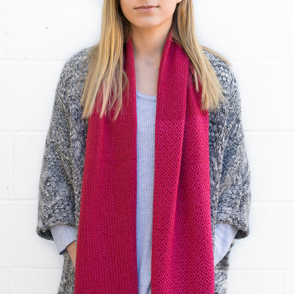 2018 Harper Scarf - French Red Cashmere Scarf