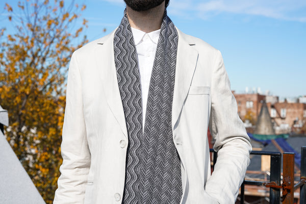 2018 Serpentine Scarf - British Grey Cashmere Scarf