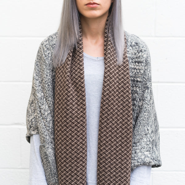 Winter Collection #4 - Hopscotch - Sable Brown + Chocolate Cashmere Scarf