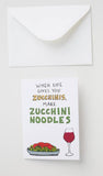 When Life Gives You Zucchinis // Inspiralized Greeting Card
