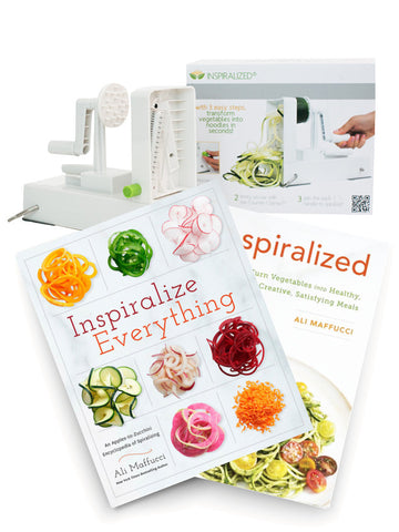 The Ultimate Inspiralized Package Deal: The Inspiralizer + Two Cookbooks