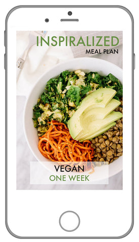 Inspiralized Meal Plan, Vegan: Week 2