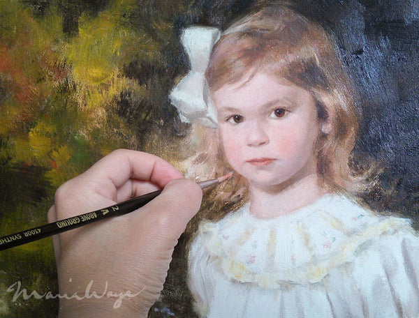 custom portrait oil painting maria waye artist toronto canada custom portrait baby girl children daughter family