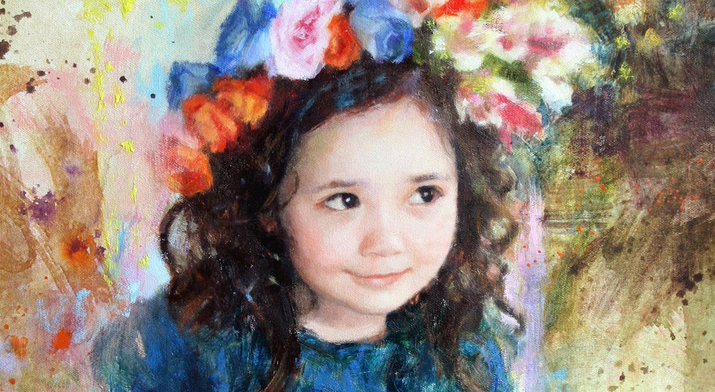 maria waye portrait artist toronto canada amazing likeness oil painting children family couples