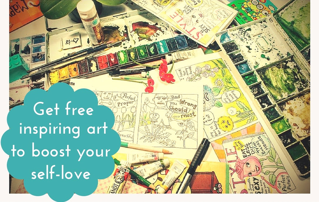 Get free art to inspire you to boost your self love and happiness maria waye artist paintings