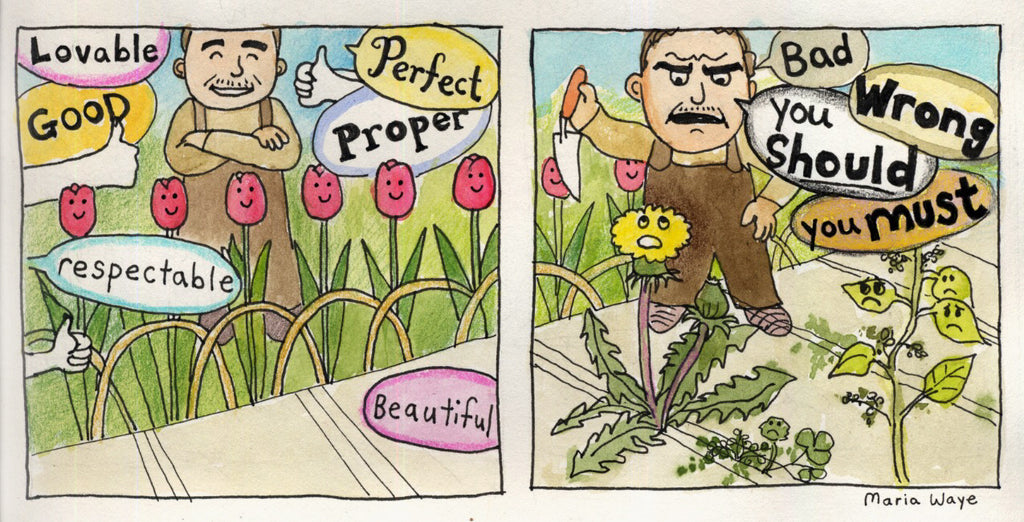 Maria Waye comics perfect flowers plants being your unique self artist toronto canada