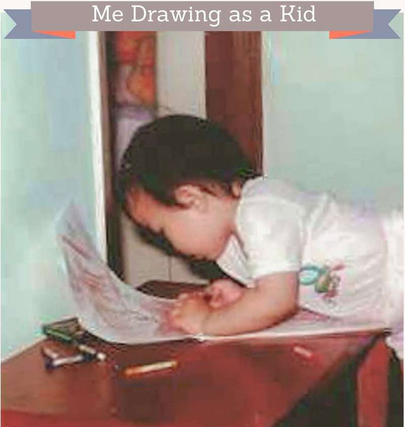 The artist as a child drawing as a kid Maria Waye drawing painting art toronto canada
