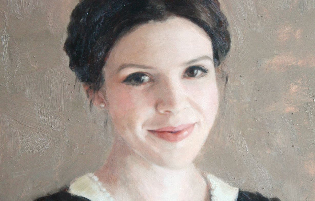 maria waye artist women custom oil portrait for art lovers add to your collection original fine art painting