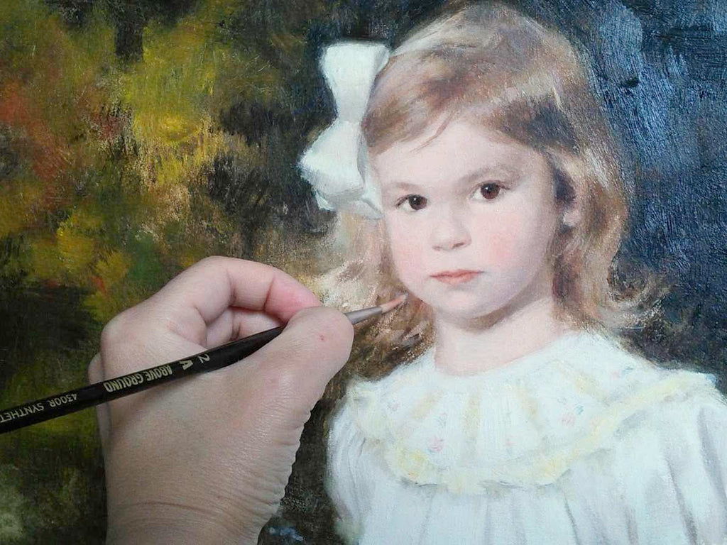 Maria Waye custom oil portrait pretty girl baby children art personalized for your home fine gift original art canadian artist