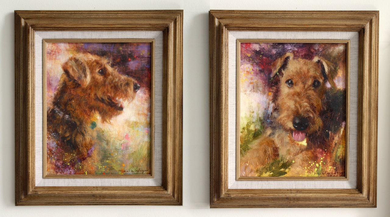 custom portrait pets dogs airedale terrier maria waye