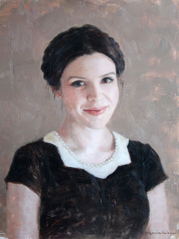 Toronto Portrait Artist Maria Waye painting custom fine art oil painting to bring beauty and elegance into your home.